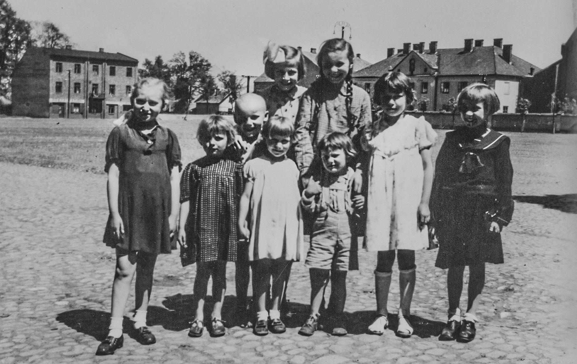 Mieszkańcy Oświęcimia Zdjęcie archiwalne