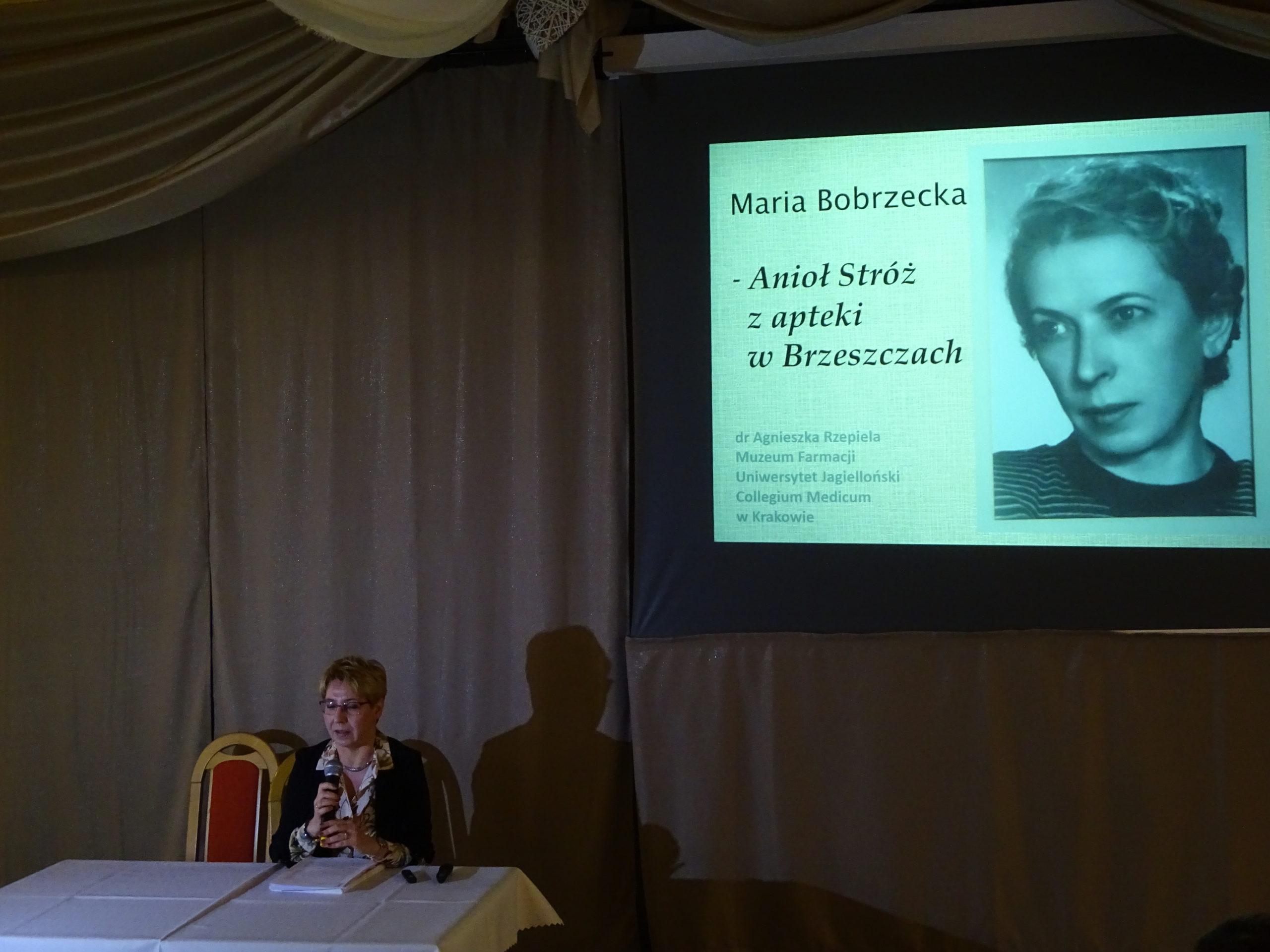 O bohaterskiej aptekarce z Brzeszcz Marii Bobrzeckiej opowiadała dr Agnieszka Rzepiela z Muzeum Farmacji Uniwersytetu Jagiellońskiego Collegium Medicum w Krakowie