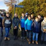 Młodzież w trakcie realizacji projektu edukacyjnego w Brzeszczach.
