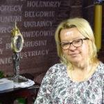 Beata Laskowska w trakcie rejestracji opowieści o swoim dziadku Franciszku Ptaszniku