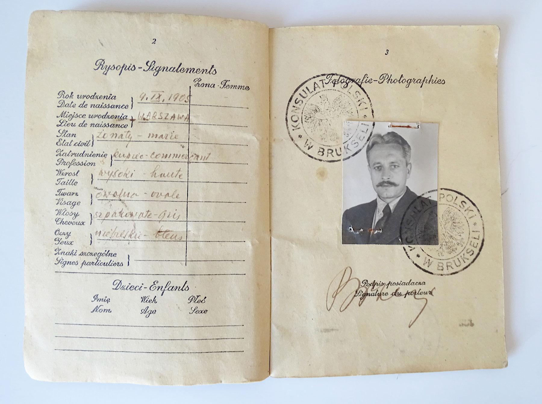 Paszport Piotra Szewczyka wystawiony na fałszywe nazwisko - Brzeg
